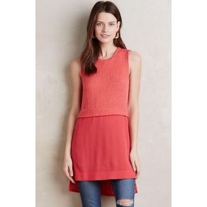 Anthropologie Ro & De Coralee Tunic In Coral